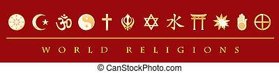 Weltreligionen Banner