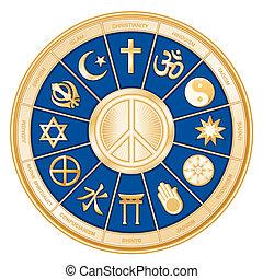 Weltreligionen, Friedenssymbol