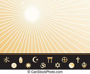 Weltreligionen-Poster