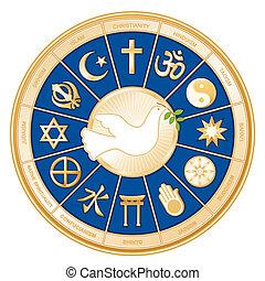 Weltreligionen, Taube des Friedens