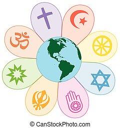 Weltreligionen vereinten Frieden