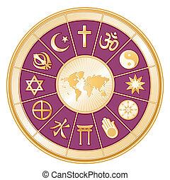 Weltreligionen, Weltkarte