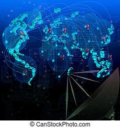Weltsatellitentelekommunikation