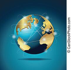 Weltweite Handelskommunikation.