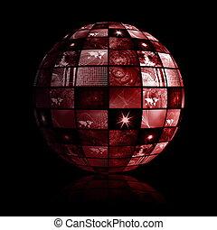 Weltweite Welt der Medientechnologie