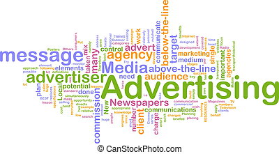 Werbung für Wortwolke