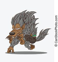 werewolf/monster, vector/monster
