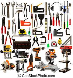 Werkzeuge aus weißem Hintergrund isoliert
