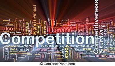 Wettbewerbs-Hintergrundkonzept leuchtend