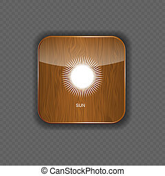 Wetter-Holz-Anwendungs-Icons.