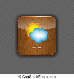 Wetter-Holz-Ikonen