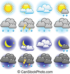 Wettervektor-Ikonen