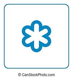 Wettervorhersage Snowflake Icon