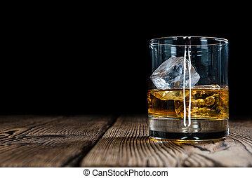 whiskey, ledig, malz