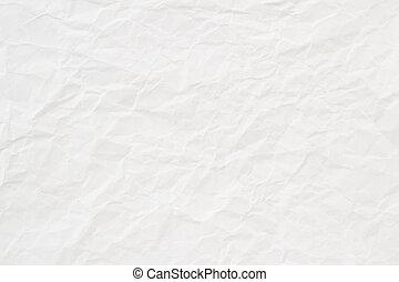 White Crumpled Papier Textur oder Hintergrund.