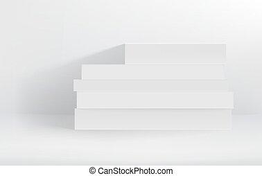 White Hardcover Stapel von Büchern vektorgrafik.
