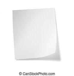 White Note Paper Message Etiketten Geschäft.