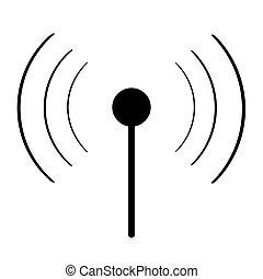 wi-fi, schwarz, zeichen