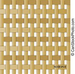 Wicker Hintergrund (seamloses Muster)