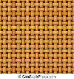 Wickerkorb, webendes Muster nahtlos