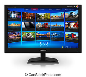 Widescreen TV mit Streaming-Videogalerie
