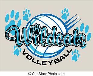 Wildcats Volleyball Design.