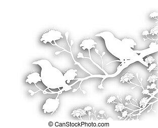 Wilde Vögel, abgeschnitten