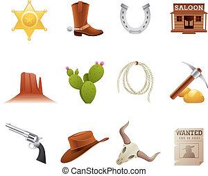 Wilde westliche Ikonen
