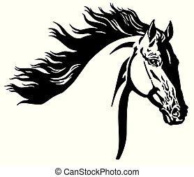 Wilder Pferdekopf