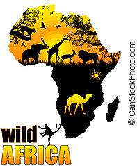 Wildes afrikanisches Poster