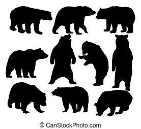 Wildes Tier, Bärensilhouetten.