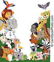 Wildtier-Cartoon Hintergrund.