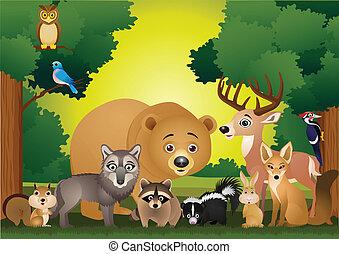 Wildtier Cartoon