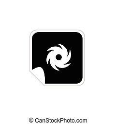 Wind Icon Vektorgrafik.