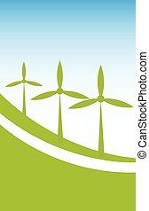 Windenergie Hintergrund.
