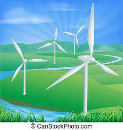 Windenergie Illustration.