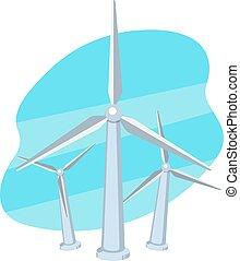 Windenergiegenerator-Icon