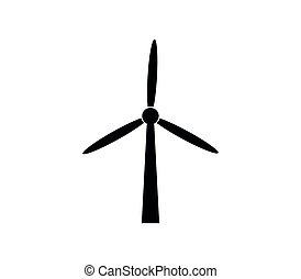 Windkraftwerk.