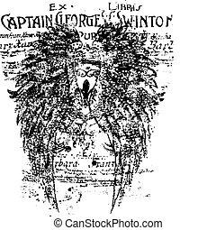 Wing-Schild-Hintergrund