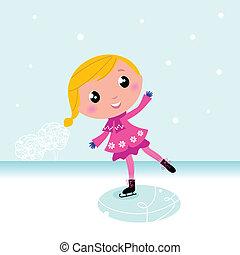 Winter: Süßkind-Eislauf auf gefrorenem See