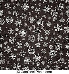 Winter Schneeflocken doodle nahtlos Hintergrund