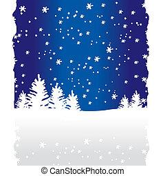 Winterbäume im Hintergrund (vektor)