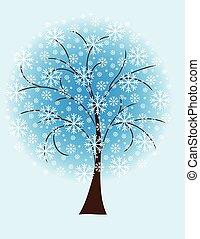 Winterbaum aus Schneeflocken.