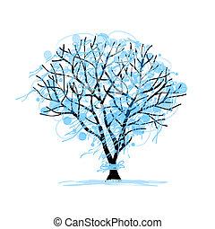 Winterbaumskizze für Ihr Design.