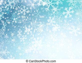 Winterferien-Schnee Hintergrund. Weihnachts-Szenario