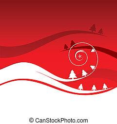 Winterferien, Weihnachtskarte.