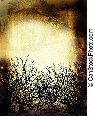 Wintergrange-Hintergrund