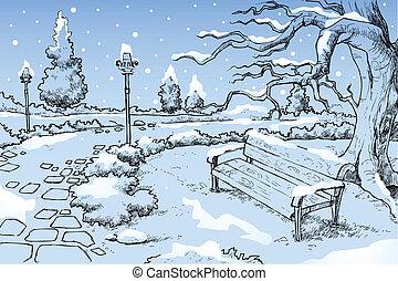 Wintersaison.