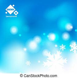 Winterschnee, blaue Weihnachtsgeschichte