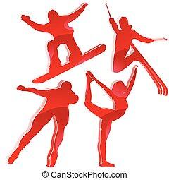 Winterspiele in Rot